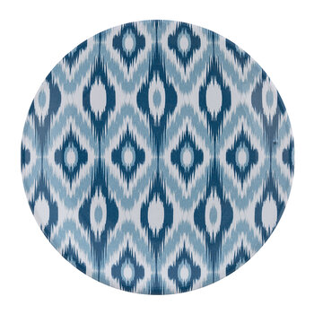 Ceramic Ikat Side Plate - Blue/White