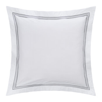Triplo Popeline Pillowcase - 65x65cm - White/Slate Gray
