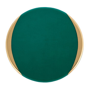 Gold Murano Charger Plate - Green