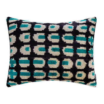 Velvet Cushion - 40x50cm - Blue Circles