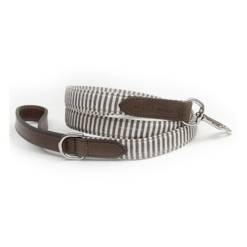 Charcoal Stripe/Charcoal Leather Lead