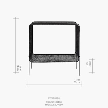 Iron Side Table - Black - Low