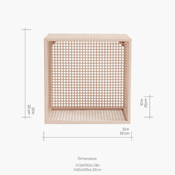 Wire Box Shelf - Light Pink