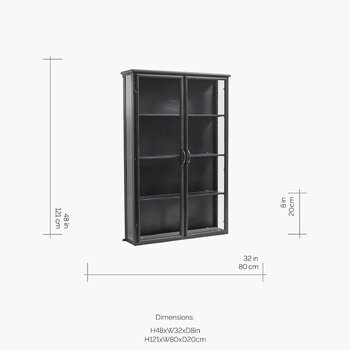 Downtown Wall Cabinet - Black