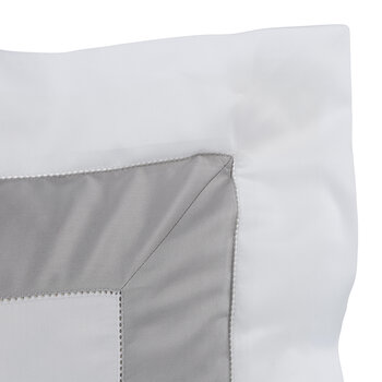 Bicolore Pillowcase - White/Grey
