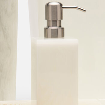 Abiko Soap Pump - Pearl White
