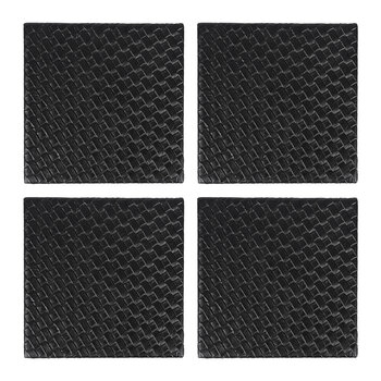 Woven Square Coaster - Set of 4 - Black