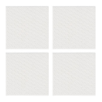 Woven Square Coaster - Set of 4 - Ivory
