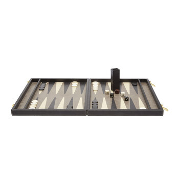 Grantham Backgammon Game Set - Gray and Charcoal