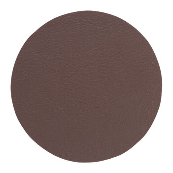 Double Sided Vegan Leather Coasters - Set of 4 - Brown