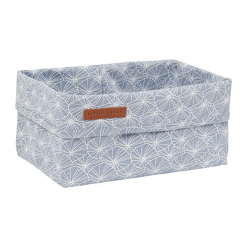 Baby Storage Basket - Lily Leaves - Blue