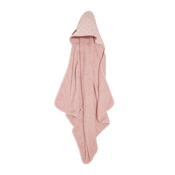 Hooded Towel - Lily Leaves Pink