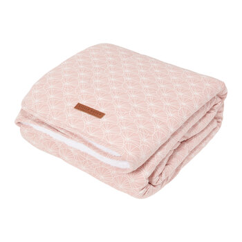 Pure & Soft Bassinet Blanket - Lily Leaves - Pink
