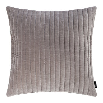 Velour Quilted Cushion - 45x45cm - Light Grey