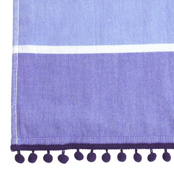 Children's Hooded Fouta Towel - Blue