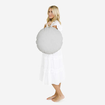 Circular Floor Cushion - Pewter