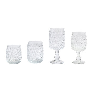 Claire Water Goblet - Clear