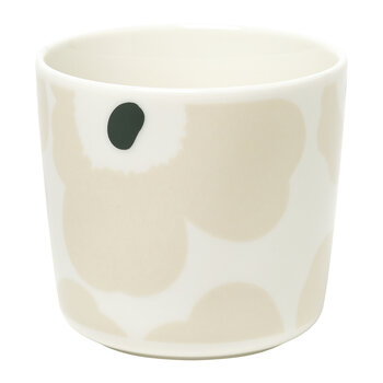 Oiva/Unikko Coffee Cup Without Handle - White/Beige/Dark Green