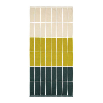 Tiiliskivi Towel - Dark Green/Sand/Brass - Bath