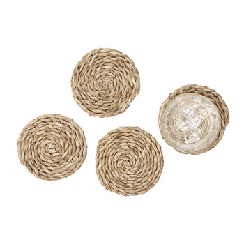 Lucian Round Coasters - Set of 4  - Seagrass