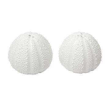 Marina Salt and Pepper Shakers - Set of 2  - White