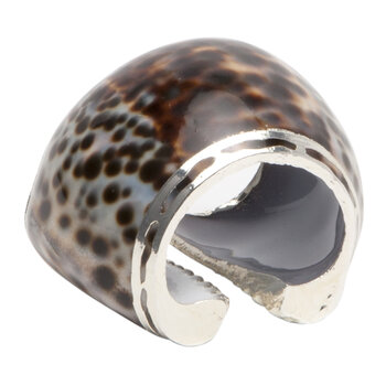 Oliva Tiger Cowrie Shell Napkin Rings - Set of 4