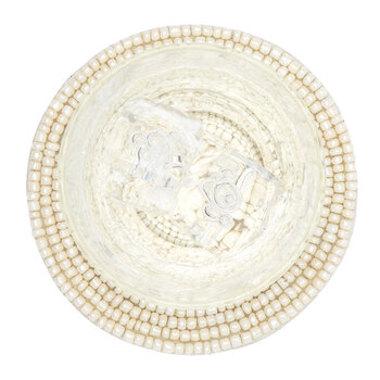 Terza Round Coasters - Set Of 4  - Glass Beads