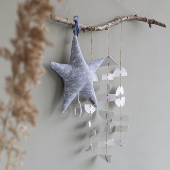 Star Shaped Music Box - Lily Leaves - Blue
