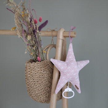 Star Shaped Music Box - Lily Leaves - Pink