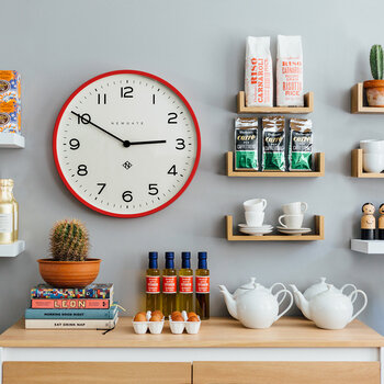 Number One Echo Wall Clock - Fire Engine Red