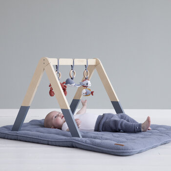 Wooden Baby Gym - Ocean Blue