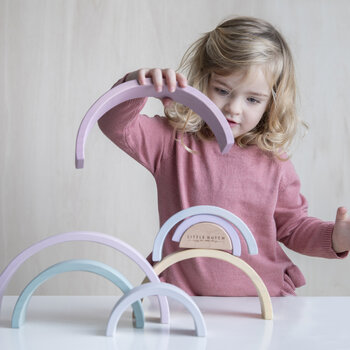 Rainbow Stacking Toy - Pink