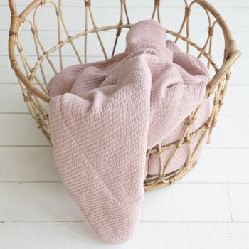 Pure & Soft Cot Blanket - Pure Pink