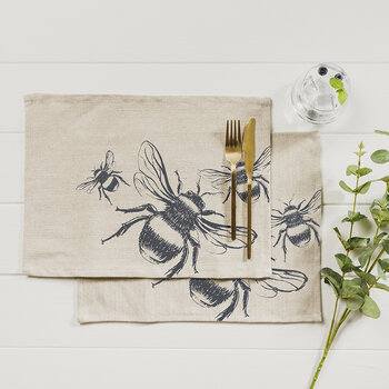Bee Linen Placemats - Set of 2