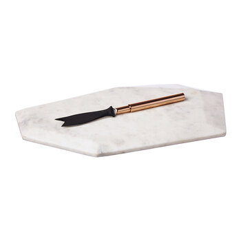 Marble Board with Copper Knife
