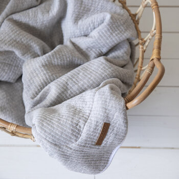 Pure & Soft Cot Blanket - Pure Grey