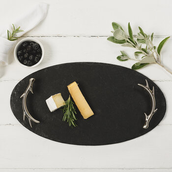 Serving Tray with Antler Handles