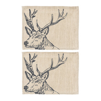 Stag Linen Placemats - Set of 2