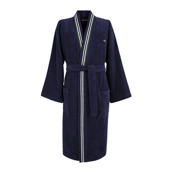 L Club Bathrobe - Marine