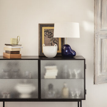 Haze Sideboard With Wired Glass - Black