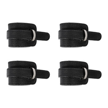 D-Ring Buckle Napkin Rings - Set of 4