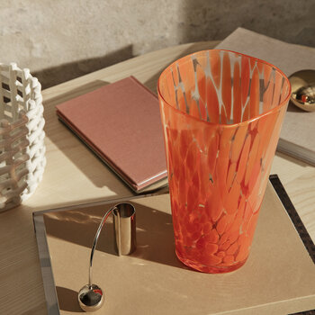 Casca Vase - Poppy Red