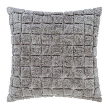Square Textured Cushion - 50x50cm - Grey