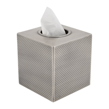 Honeycomb Effect Tissue Box - Antique Silver