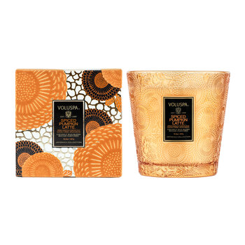 Japonica 2 Wick Glass Candle - Spiced Pumpkin Latte
