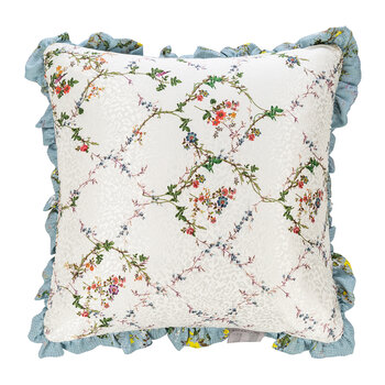 Gondola Reversible Cushion - Ivory/Blue