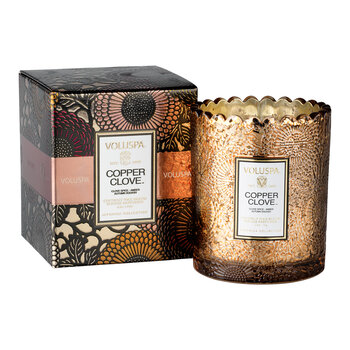 Japonica Scalloped Candle - Copper Clove