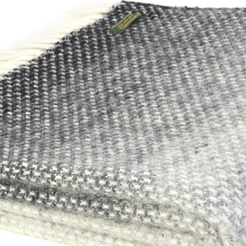 Pure New Wool Ombre Throw - Pebble