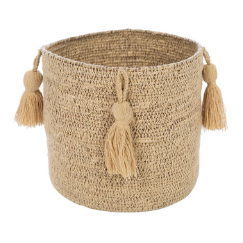 Seagrass Tassel Trim Basket - Small - Natural