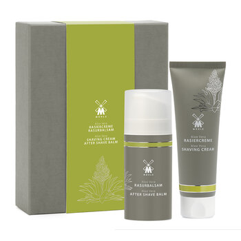 Shave Care Shaving Cream & Aftershave Balm Set - Aloe Vera